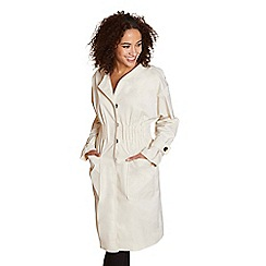 Yumi - Beige gathered ruch trench coat