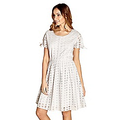 Yumi - Ivory broderie anglaise day dress
