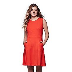 Yumi - Orange Stretch A-Line Dress