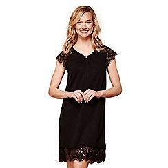 Yumi - Black lace 'Ava' knee length tunic dress