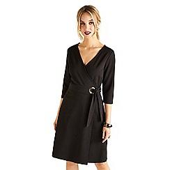 Yumi - Black 'Zahraa' wrap dress