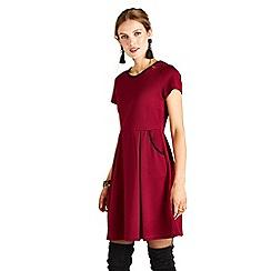 Yumi - Red lace 'Elisa' mini skater dress