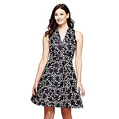 Yumi - Blue blue floral print 'Myah' skater dress