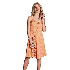 Yumi - Light orange bubble spot 'blodwen' dress