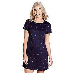 Yumi - Navy fish print 'brit' tunic dress