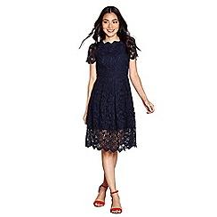 Yumi - Navy guipure lace 'calandra' dress