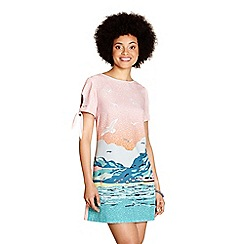 Yumi - Multicoloured seaside print 'calla' tunic dress
