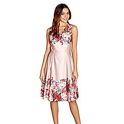 Yumi - Light pink floral print 'Paulina' tunic dress