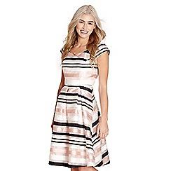 Yumi - Ivory striped organza 'khushi' dress