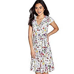 Yumi - Ivory floral print 'lacie-mae' jersey dress