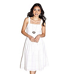 Yumi - Ivory broiderie anglaise 'Adelaide' day dress