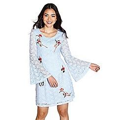 Yumi - Pale blue corded lace 'dina' swing dress