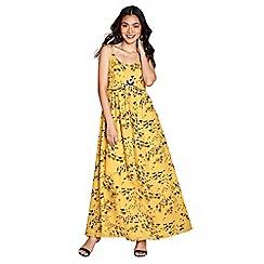 Yumi - Yellow giraffe pattern 'Thalia' maxi dress