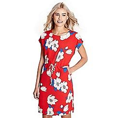Yumi - Red floral print 'daya' dress