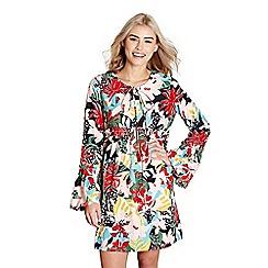 Yumi - Multicoloured abstract 'esmai' floral tunic dress