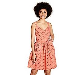 Yumi - Orange retro giraffe 'mariana' print dress