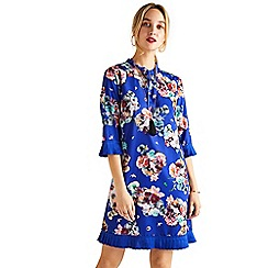 Yumi - Blue floral 'Valoria' tunic dress