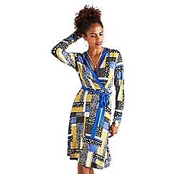 Yumi - Multicoloured floral patchwork 'Baylen' wrap dress