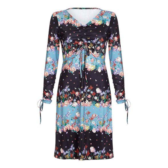 blue Yumi bodycon 'Valree' botanical jersey dress Light 1xqaBT