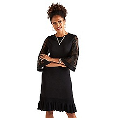 Yumi - Black lace knitted 'Valoy' tunic dress