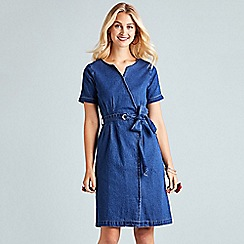 Yumi - Blue denim 'Eldeen' wrap dress