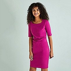 Yumi - Pink ponte 'Eden' bodycon dress