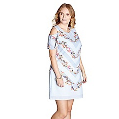 Yumi Curves - White floral print 'Ember' tunic dress