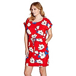 Yumi Curves - Red floral print 'dimona' dress