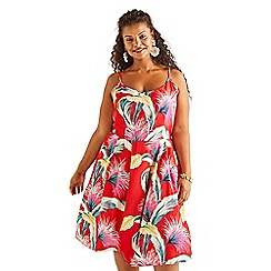 Yumi Curves - Red Strap Summer Dress