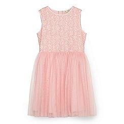 Yumi Girl - Pink sequinned tutu dress