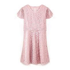 Yumi Girl - Girls' pink lace layered sleeve dress