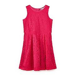 Yumi Girl - Girls' pink lace sleeveless dress