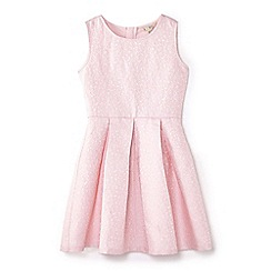 Yumi Girl - Light pink glittery floral skater dress