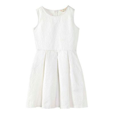 Yumi Girl   White Glittery Floral Skater Dress by Yumi Girl