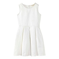 Yumi Girl - White glittery floral skater dress