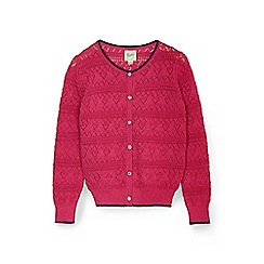 Yumi Girl - Pink metallic stiched cardigan