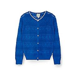 Yumi Girl - Blue metallic stiched cardigan