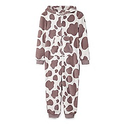 Yumi Girl - Cream 3d cow onesie