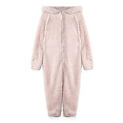 Yumi Girl - Pink 3d sparkling rabbit onesie