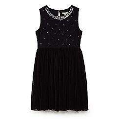 Yumi Girl - Black sequin embellished mesh dress