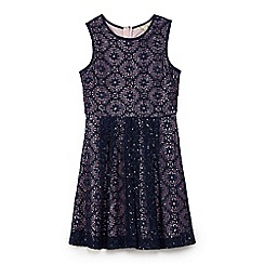 Yumi Girl - Blue embellished sequin lace dress