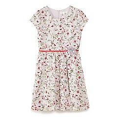 Yumi Girl - Grey 3d flower print day dress