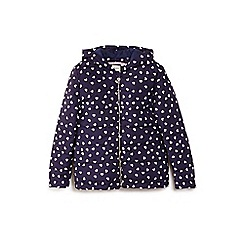 Yumi Girl - Blue heart pattern quilted jacket