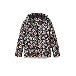 Yumi Girl - Black ditsy floral print quilted jacket
