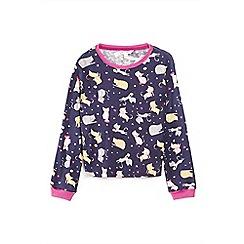Yumi Girl - Blue cat pattern pyjamas