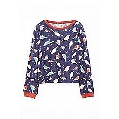 Yumi Girl - Blue robin printed pyjama set