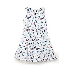 Yumi Girl - Girls' white butterfly print 'Amylia' party dress