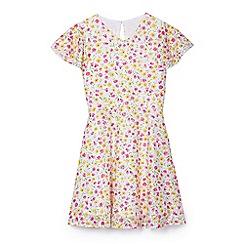 Yumi Girl - Girls' multicoloured floral print 'Valeria' skater dress