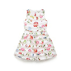 Yumi Girl - Ivory floral and butterfly 'duana' prom dress