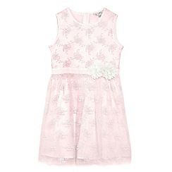 Yumi Girl - Girls' pink floral embroidered 'Amukta' party dress